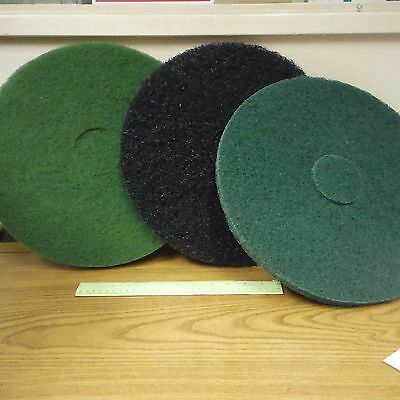 "PRO-LINK Floor Buffer Scrubbing Pads 21/LOT! 15"" Diameter, 3/4"" and 1"" Thickness"