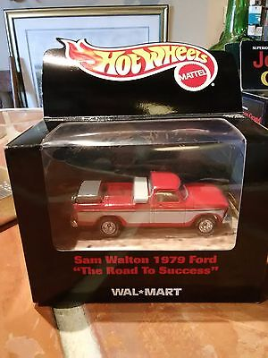 """Hot Wheels Sam Walton 1979 Ford """"The Road to Success"""" Wal-Mart die-cast"""