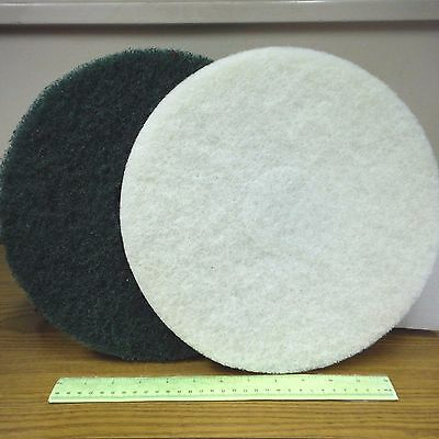 "PRO-LINK Floor Buffer Scrubbing Pads 7/LOT! 12"" Diameter-About 7/8""/1"" Thickness"