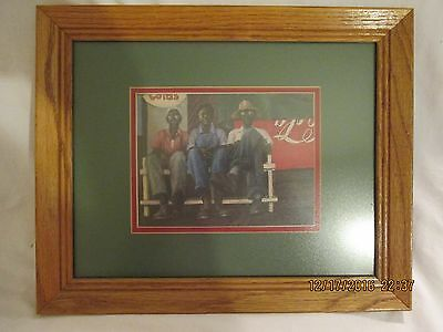 Coca-Cola Framed Matted Print Black Men on Country Store Porch