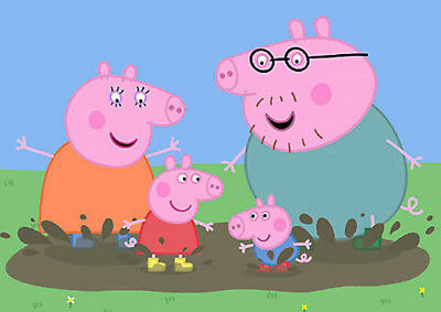 Peppa Pig Poster Print Photo Picture A4 A3 High Quality