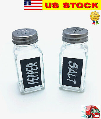 Tsyware Glass Salt & Pepper Shaker with Lids, 3¼ oz. (Set of 2)