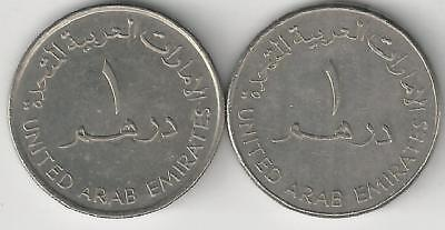 2 DIFFERENT 1 DIRHAM COINS from the UNITED ARAB EMIRATES DATING 1995 & 1998