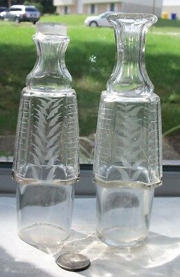 Two Matching Nice Early Fancy Victorian  Bottles