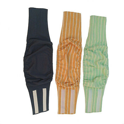 Reusable Male Dog Diapers Puppy Belly Band Soft Comfort Easy attach, Pack of 3