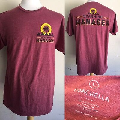 COACHELLA - VERY RARE EMPLOYEE ONLY Ticket Scanning Manager T-Shirt Size Large