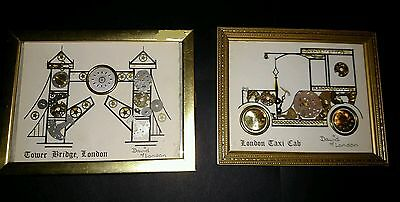 Pair Of David Of London Horological Montages Watch Clock Art See Pictures