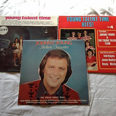 3 JOHNNY YOUNG & YOUNG TALENT TIME LP'S Bulk Lot!