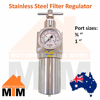 FR Stainless Steel Filter Regulator Pneumatic Systems Air Compressor Large