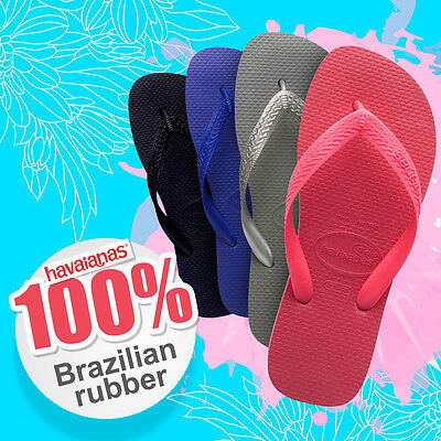 Genuine havaianas Top Thongs various styles black size 35 - 44 Brand New