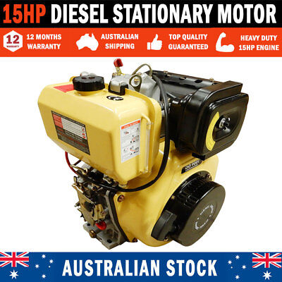 NEW Large 15 HP Diesel Stationary Motor With Electric Start Pumps & Saw Benches