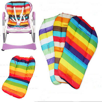 Baby Rainbow Waterproof Stroller Pram Car Seat Pad Fashion Cushion Padding Liner