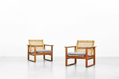 Beautiful Pair of Lounge Chairs by Borge Mogensen for Fredericia Danishdesign