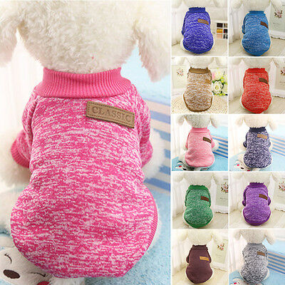 Winter Hunde Strickmantel Hundepullover Strickjacke Jumper Warm Hundebekleidung