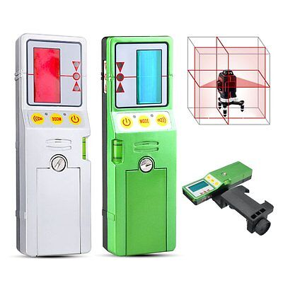 Outdoor 12 Line 3D Laser Level Detector Receiver w/Clamp Red Green Line Vertical