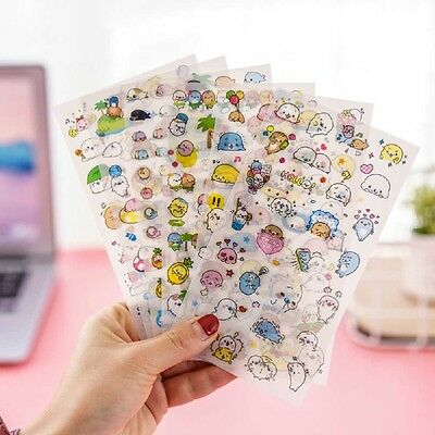 6 sheet Lovely Cartoon Animals Diary Scrapbooking Filofax Decorative Stickers