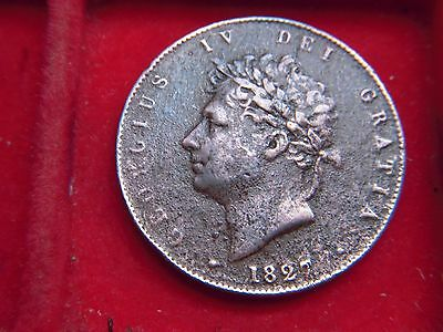 1827 George 1V Half-Penny From My Collection [U24]
