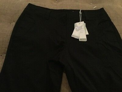New Women's Callaway Opti Dri Golf Capri Caviar Black Size 8 $99.95