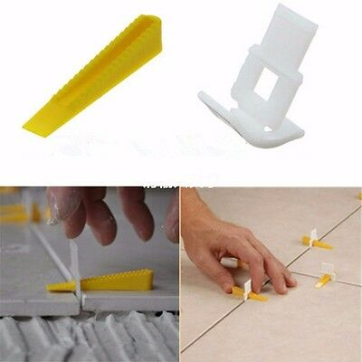 50Pcs Wedges Clips Tile Flat Leveling System Wall Wall Floor Spacers Strap Tool