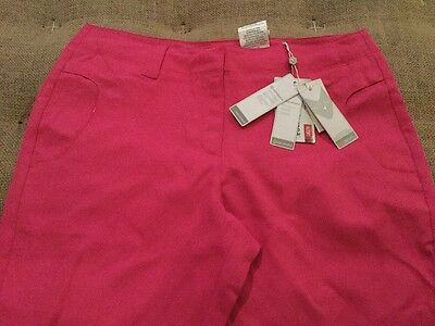 New Women's Callaway Golf Capri Caviar Hot Pink Fuchsia Purple Size 6 $99.95