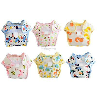 AU Baby Boys Girls Cotton Diaper Cover Adjustable Washable Warp Nappy Cover