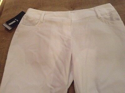 New Women's ADIDAS Golf Capri Pants WHITE Size 10 $90