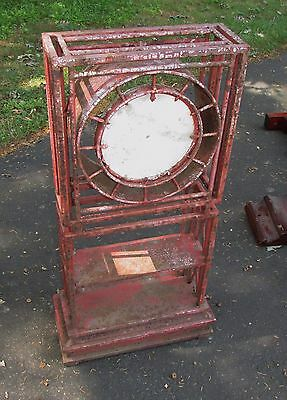 Antique Architectural Form Large Outdoor Garden Clock Wrought Iron Marble