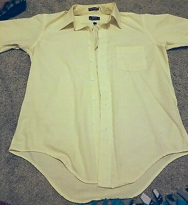 Arrow Dover Vintage Cream Button-down Collared Formal Dress T-Shirt Size 16