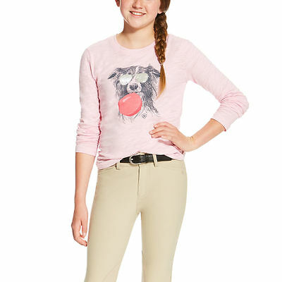 Ariat Girls Dog w/ Bubblegum Graphic Tee Shirt - Different Sizes