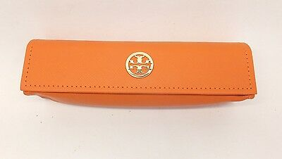 Tory Burch SMALL Case - Orange Leather for Eyeglasses  - 100% Authentic! RG9