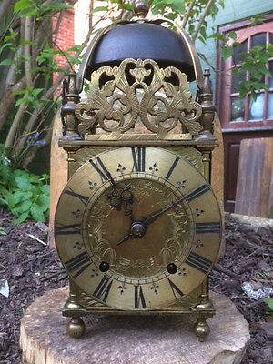 Rare English Lantern Clock John Clowes London 1690 17Th Century Xvii 17Eme