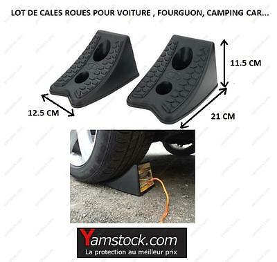 2 cales roues pour voiture , fourgon , camping car