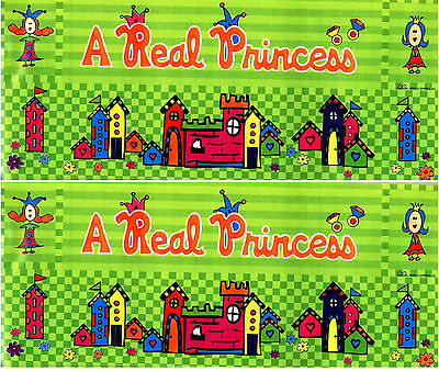 2 Grrrls 2 Large Sheets A Real Princess Castle Border Scrapbook Stickers