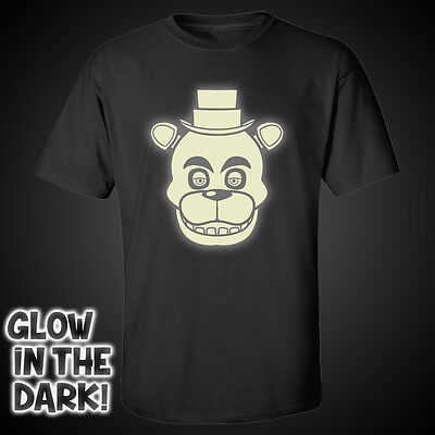 Glow In The Dark Five Nights At Freddy's Kids T-Shirt Fazbear Fnaf Tee