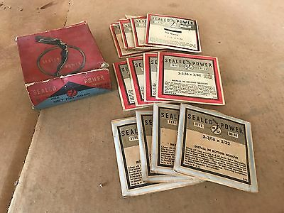 Sealed Power 598X -- 1941 1942 Ford 4-cylinder Piston Ring Set -- Standard Size
