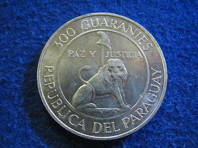 1968 Paraguay Silver 300 Guaranies - Bright Uncirculated - Free U S Shipping