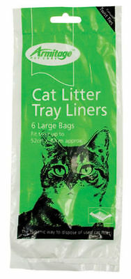 Armitage Cat Litter Tray Liners 6 x Large, Hygienic Way To Dispose Of Pet Waste