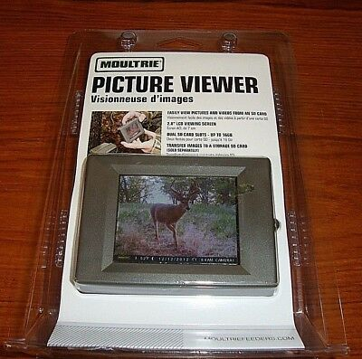 "MOULTRIE Hand Held Game Trail Camera Digital Picture Viewer w/ 2.8"" LCD 