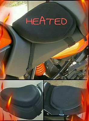 Heated motorcycle seat gel pad 3 settings hi/medium/low heat gel seat cushion
