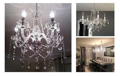 Vintage Modern Crystal Lamp Chandelier Lighting Ceiling Fixture Pendant Light