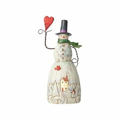 Jim Shore Folklore Snowman with Red Heart and Top Hat 4058768 NEW NIB