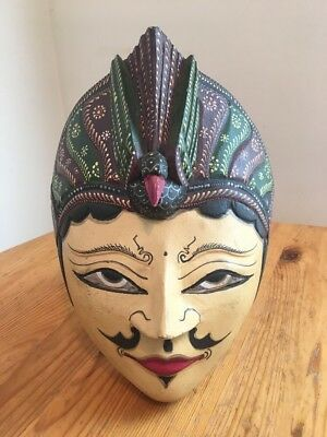 Wooden Sculpted & Painted Mask