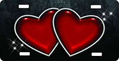 Personalized Custom License Plate Auto Car Tag Double Heart