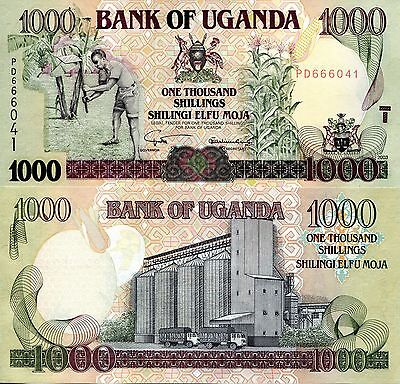 UGANDA 1000 Shillings Banknote World Paper Money UNC Currency Pick p39b Bill