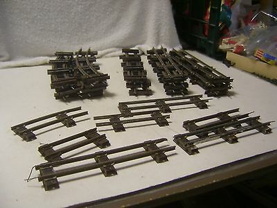S Gauge Large Lot Of 30 Pieces Used AF Track 14 Straight & 9 Curved Pieces & Sho