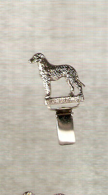 Deerhound Nickel Silver Ring Clip Pin Jewelry