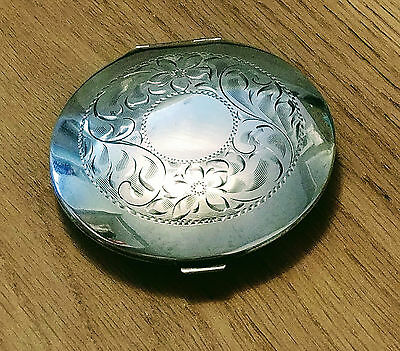 Antique/Vintage Estate Sterling Silver Cosmetic Compact - Early 1900's E.C.Co