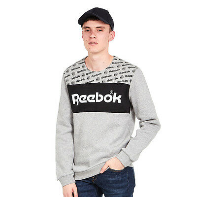 Reebok - F GR Crewneck Sweater Medium Grey Heather Pullover Rundhals