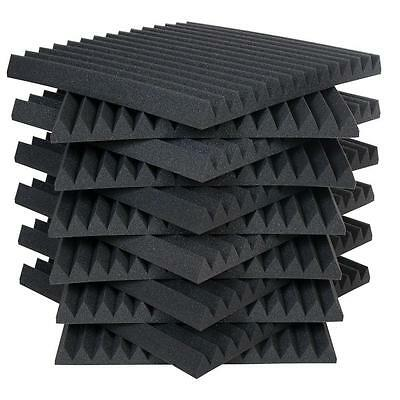 6 Pack Acoustic Wedge Studio Foam Sound Absorption Wall Panels 1x12x12 Inches.