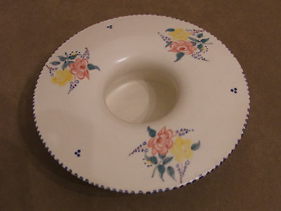 30's VINTAGE POOLE POTTERY HAND PAINTED LARGE MUSHROOM POSY BOWL GREAT CONDITION